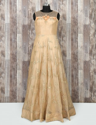 Cream color wedding wear salwar suit