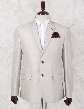 Cream colored terry rayon fabric blazer