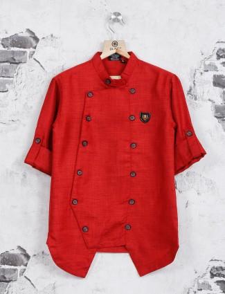Danaboi casual red shirt