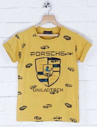 Danaboi mustard yellow casual t-shirt