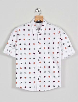 Danaboi printed white cotton shirt