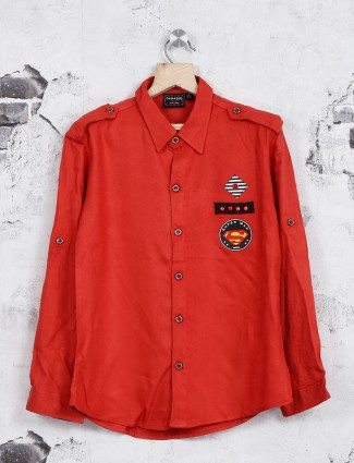 Danaboi red casual shirt