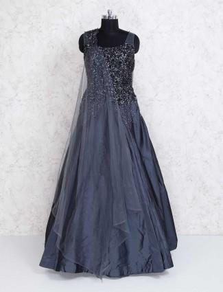 Dark grey designer gown