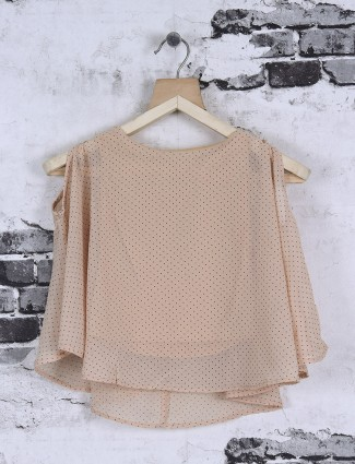 Deal beige georgette top