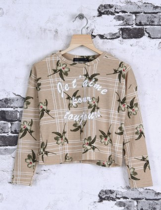 Deal beige printed top