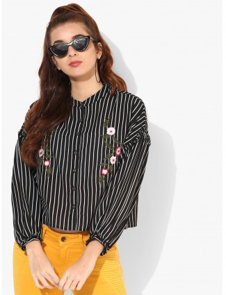 Deal black and white stripe cotton top