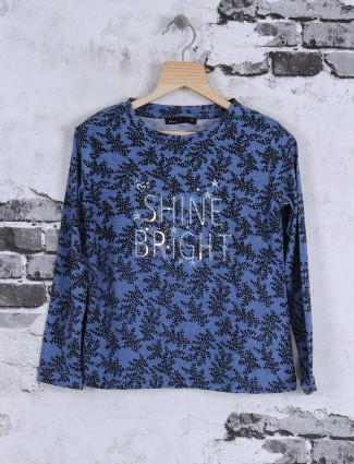 Deal blue color cotton top