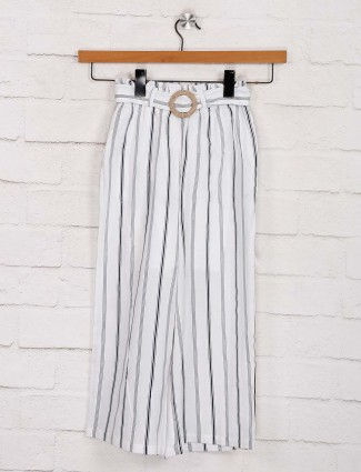 Deal comfortable cotton white stripe palazzo