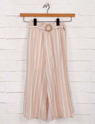 Deal cotton peach stripe palazzo
