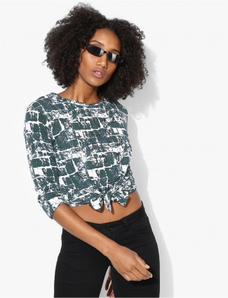 Deal green and white cotton top