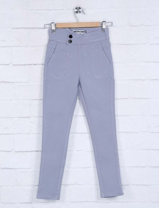 Deal grey cotton solid pattern jeggings