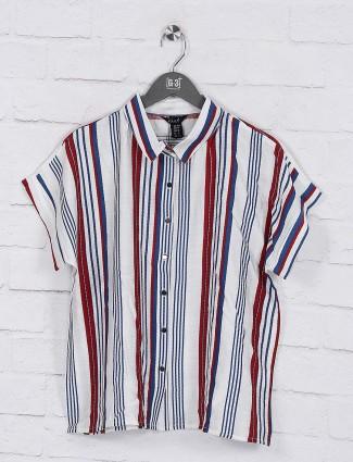 Deal maroon color cotton casual top