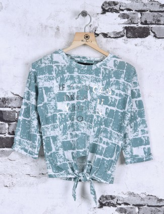 Deal mint green color cotton top