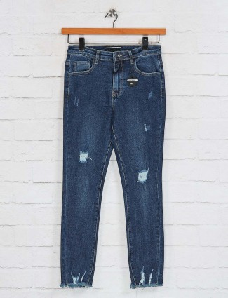 Deal navy skinny narrow ripped jeans