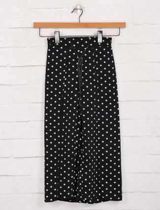 Deal polka dot prinred black cotton palazzo