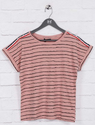 Deal rose pink cotton casual top