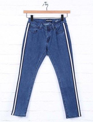 Deal solid blue skinny fit jeans
