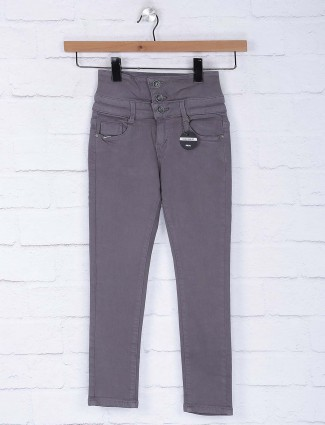 Deal solid grey hue high waist jeans