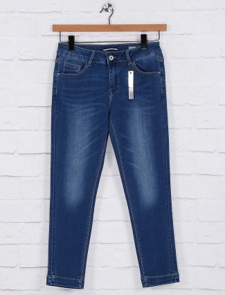 Deal washed simple blue jeans