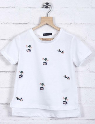 Deal white cotton simple casual top