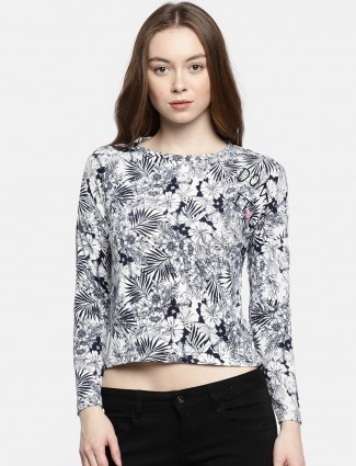 Deal white printed casual top
