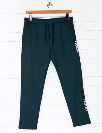 Deepee navy solid cotton night track pant