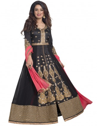 Designer black georgette party wear salwar suit