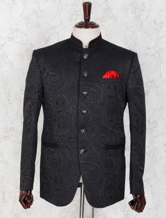 Designer black hue embroidared jodhpuri blazer