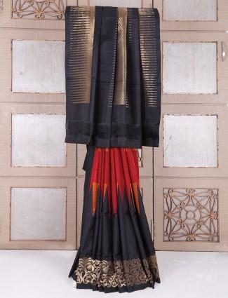 Designer black south silk saree