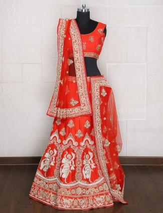 Designer bridal wear silk unstitched lehenga choli
