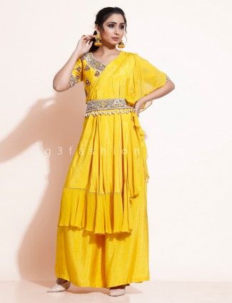 Designer kurti with palazzo in georgette for party