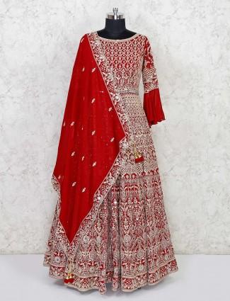 Designer marror silk floor length anarkali suit
