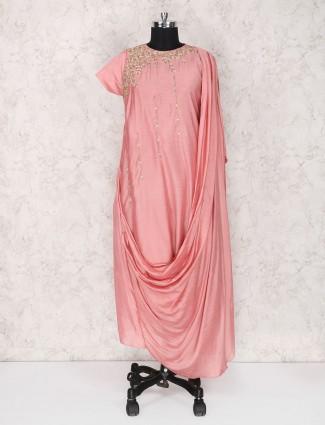 Designer pink long kurti