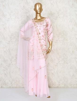 Designer pink palazzo set for wedding