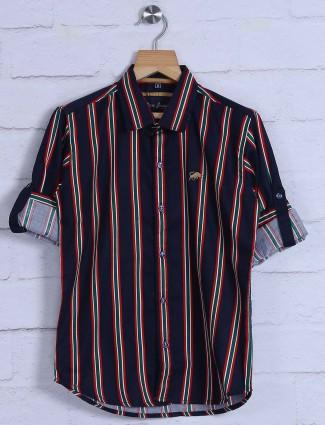 DNJS black and red stripe pattern shit