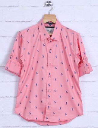 DNJS pink printed cotton shit