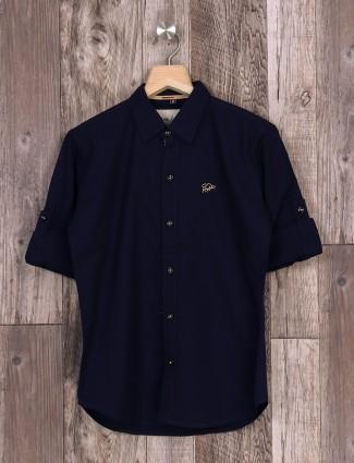 DNJS solid navy shirt