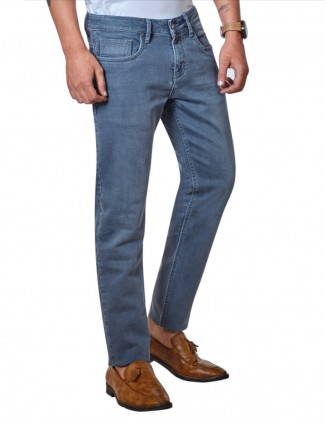 Dragon Hill blue solid slim fit jeans
