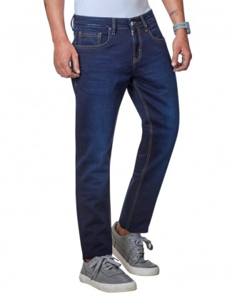 Dragon Hill fancy solid navy jeans