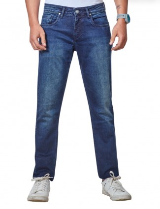 Dragon Hill navy slim fit mens jeans
