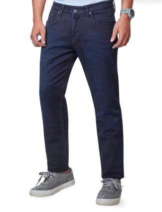 Dragon Hill navy solid regular jeans