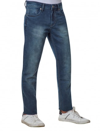 Dragon Hill solid blue denim jeans