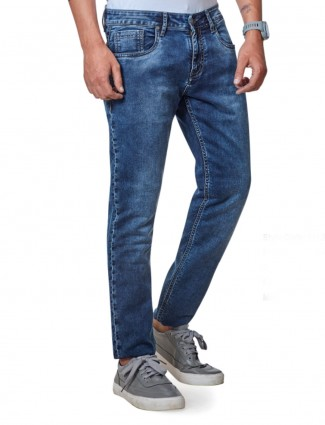 Dragon Hill solid blue jeans