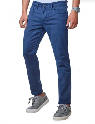 Dragon Hill solid blue slim fit jeans