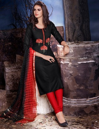 Dressline cotton black salwar suit