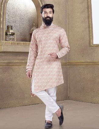 Dusty pink cotton silk kurta suit