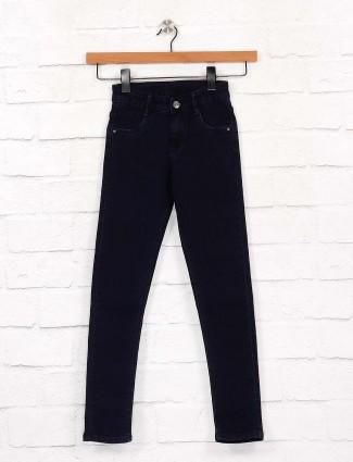 EBONY presented solid dark navy jeans