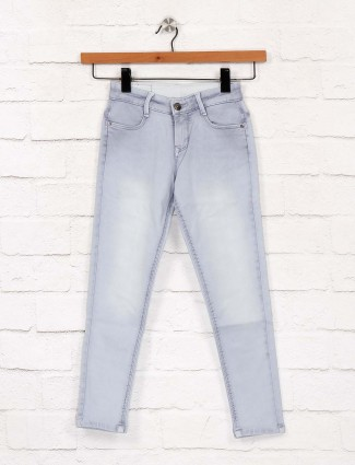 EBONY skinny fit sky blue color jeans