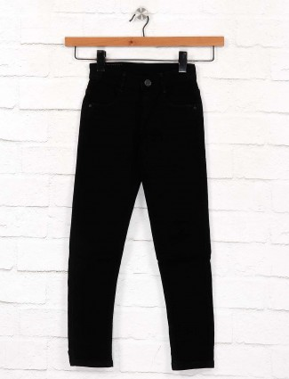EBONY solid black skinny fit girls jeans