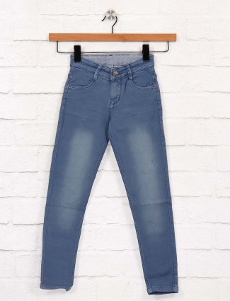 EBONY solid blue colored jeans
